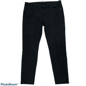 Joe Fresh Ultra Slim Low Rise snakeskin Jeans 12